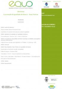 EQUO Programa - Workshop - Faro 2 de julho